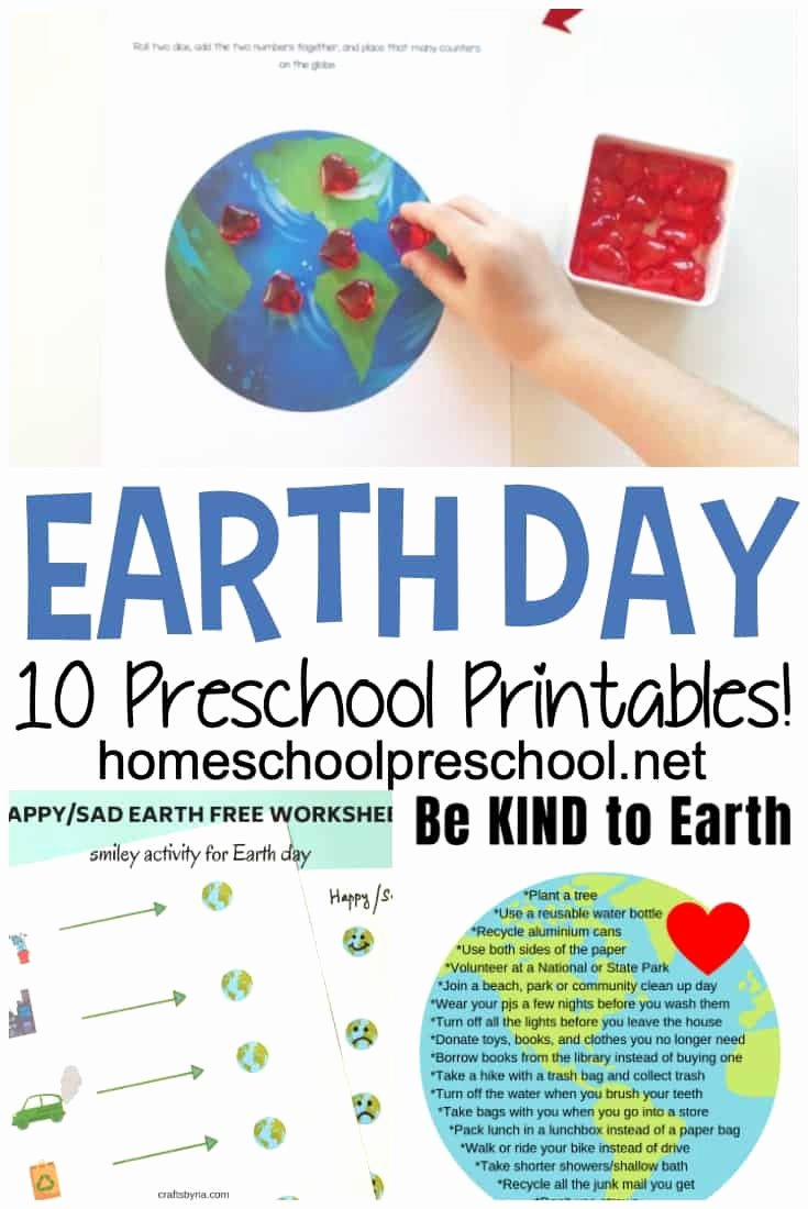 Earth Day Worksheets for Preschoolers Awesome A Great Collection Of Earth Day Worksheets for Preschoolers
