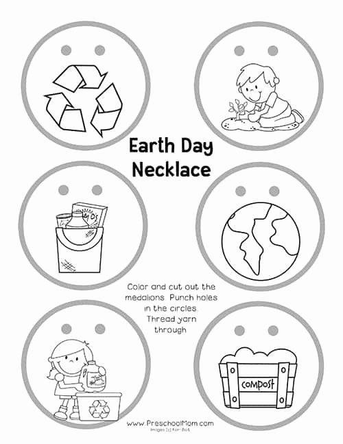 Earth Day Worksheets for Preschoolers Awesome Earth Preschool Printables Mom Worksheets Earthdaynecklace