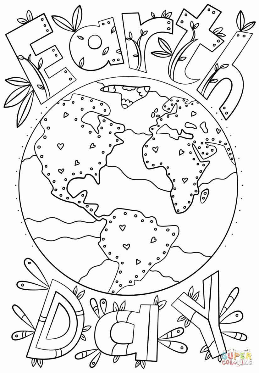 Earth Day Worksheets for Preschoolers Best Of Coloring Sheet Earth Day Printable Activities Preschool