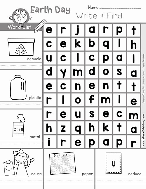 Earth Day Worksheets for Preschoolers Unique Free Earth Math Printable Worksheets for Kids Kindergarten