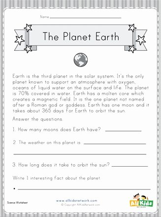 Earth Worksheets for Preschoolers Best Of Planet Earth Worksheet