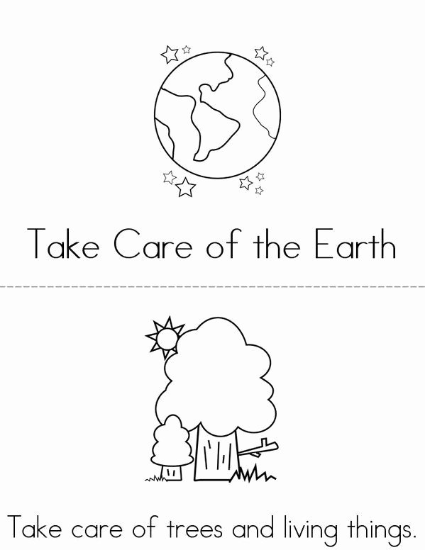 Earth Worksheets for Preschoolers Best Of Take Care Of Our Earth Mini Book