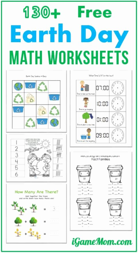 Earth Worksheets for Preschoolers top 130 Free Earth Day Math Printable Worksheets for Kids