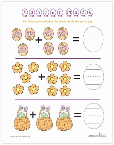 Easter Math Worksheets for Preschoolers Best Of Easter Math Worksheets for Kids 2