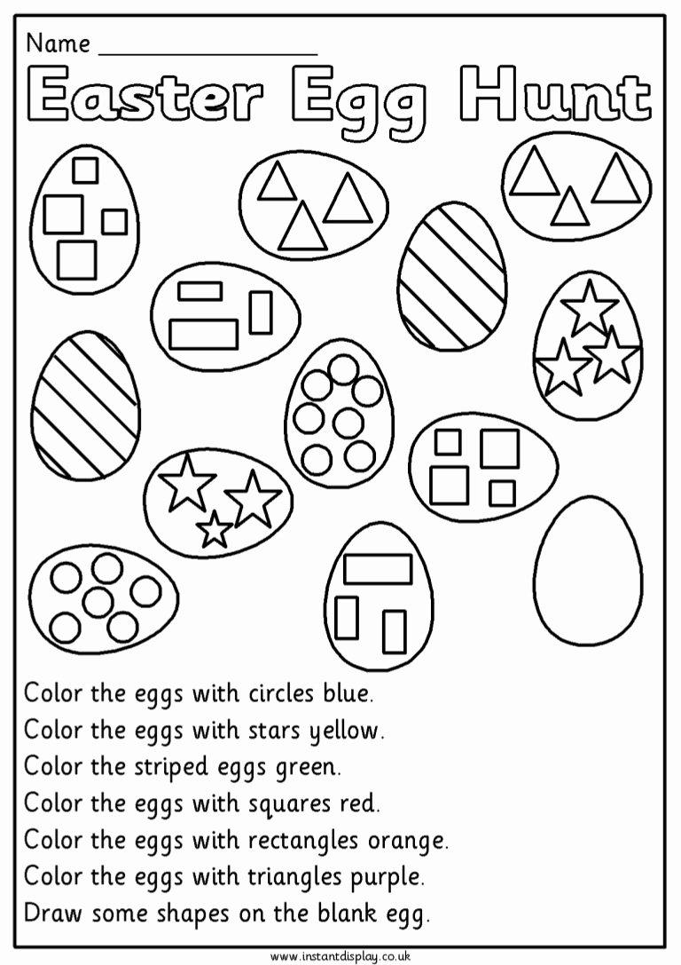 Easter Math Worksheets for Preschoolers Lovely Easter Mathematics Worksheets for 1st Grade First Eggmaths