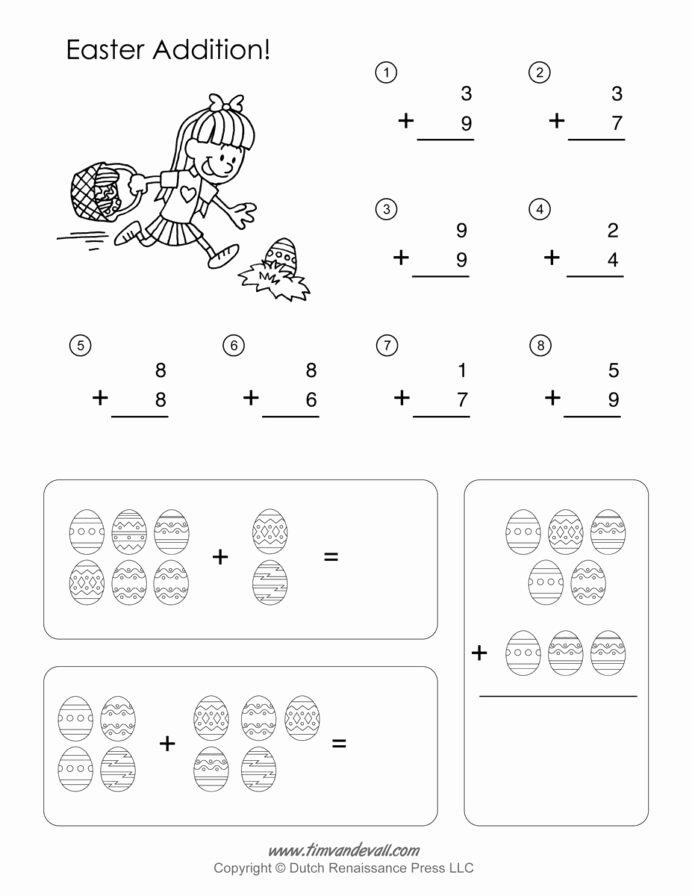 Easter Math Worksheets for Preschoolers Unique Printable Easter Math Worksheets Activities for Middle