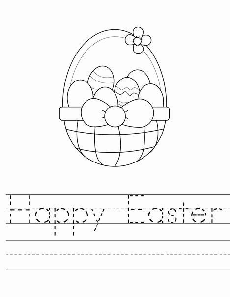 Easter Worksheets for Preschoolers Beautiful Easter Preschool Worksheets Best Coloring for Kids Simple
