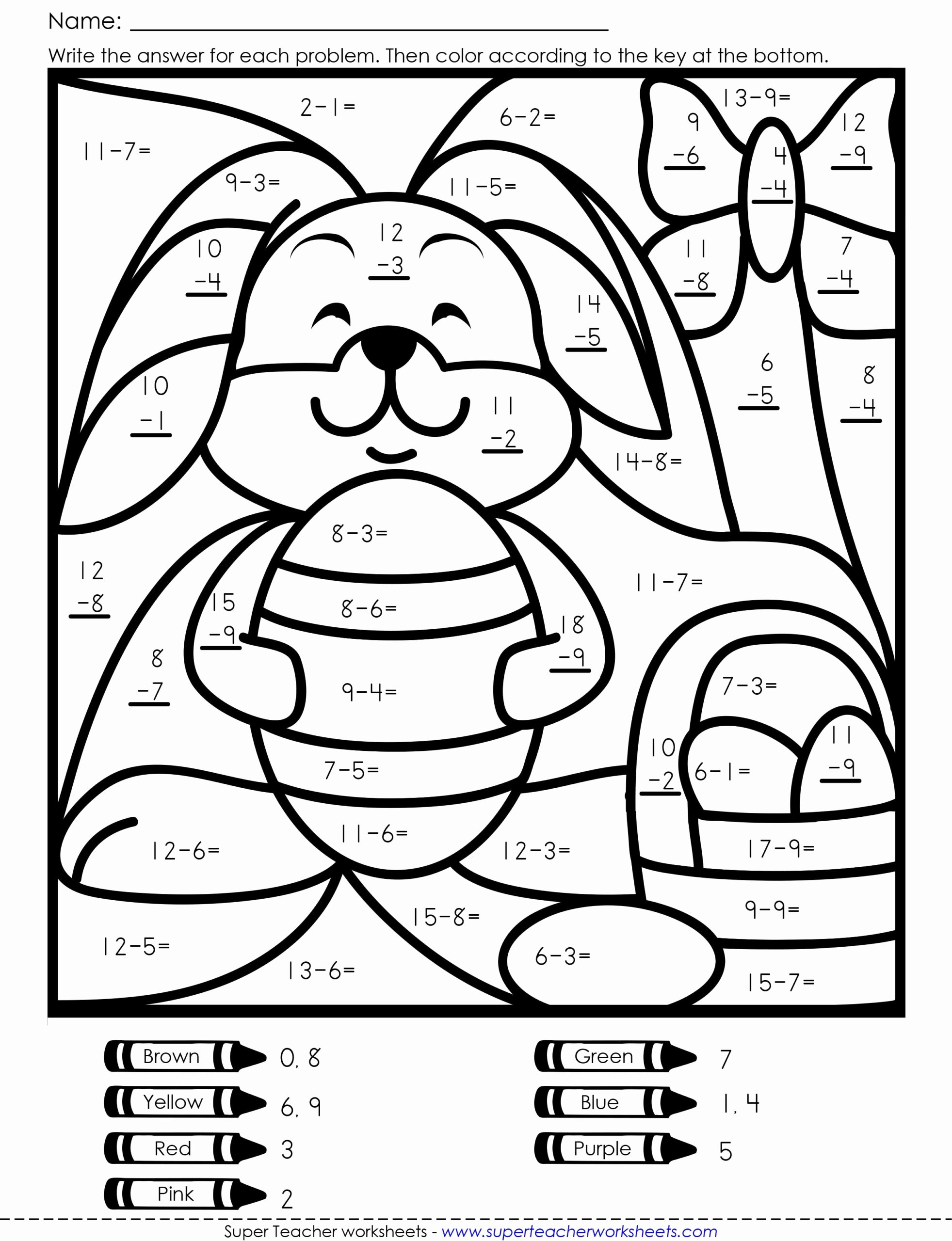 Easter Worksheets for Preschoolers Fresh Worksheets Coloring Book Easter Math Free Worksheets 5th