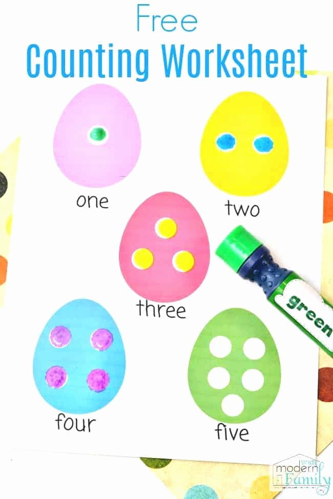 Easter Worksheets for Preschoolers Unique Easter Worksheets for Preschoolers or Kindergarteners Math