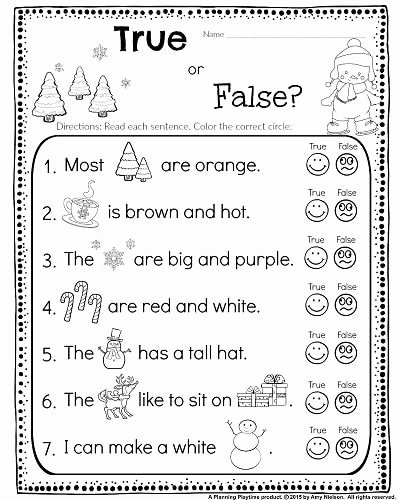Easy Reading Worksheets for Preschoolers Awesome Kindergarten Math and Literacy Worksheets for December
