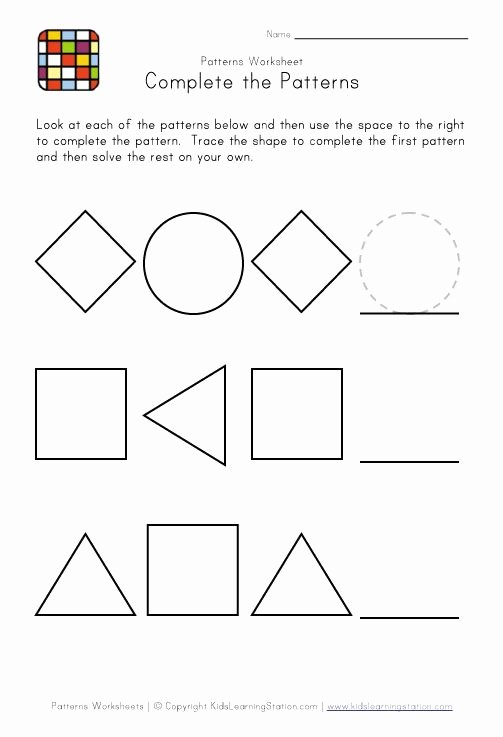Easy Worksheets for Preschoolers Beautiful Kindergarten Pattern Worksheets