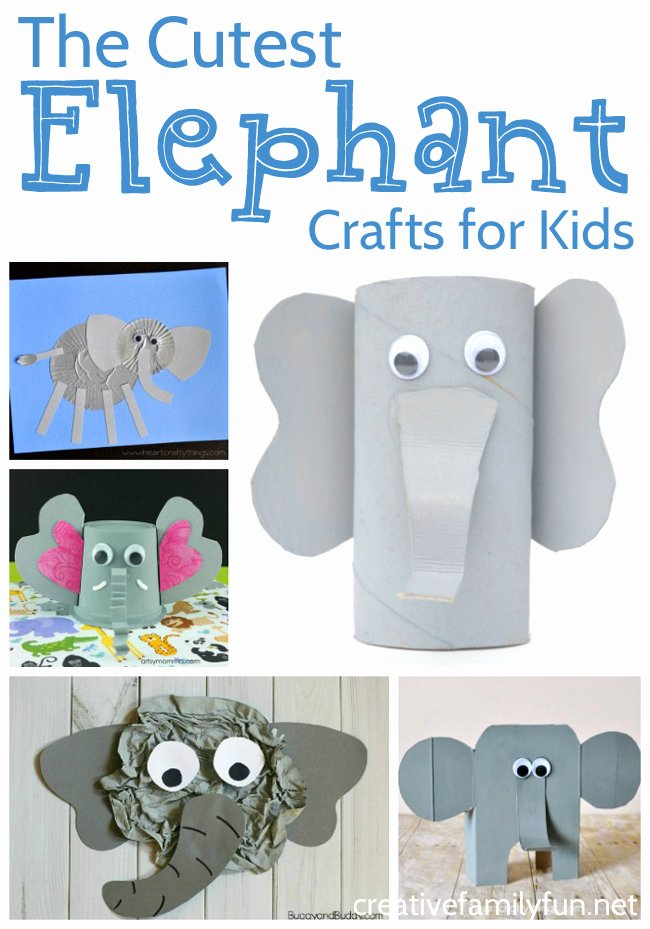Elephant Worksheets for Preschoolers Awesome Fun Elephant Crafts for Kids Creative Family Fun