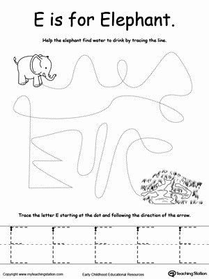 Elephant Worksheets for Preschoolers Awesome the Letter E is for Elephant