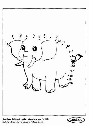 Elephant Worksheets for Preschoolers Lovely Download Free Dot to Dot Set1 and Educational Activity
