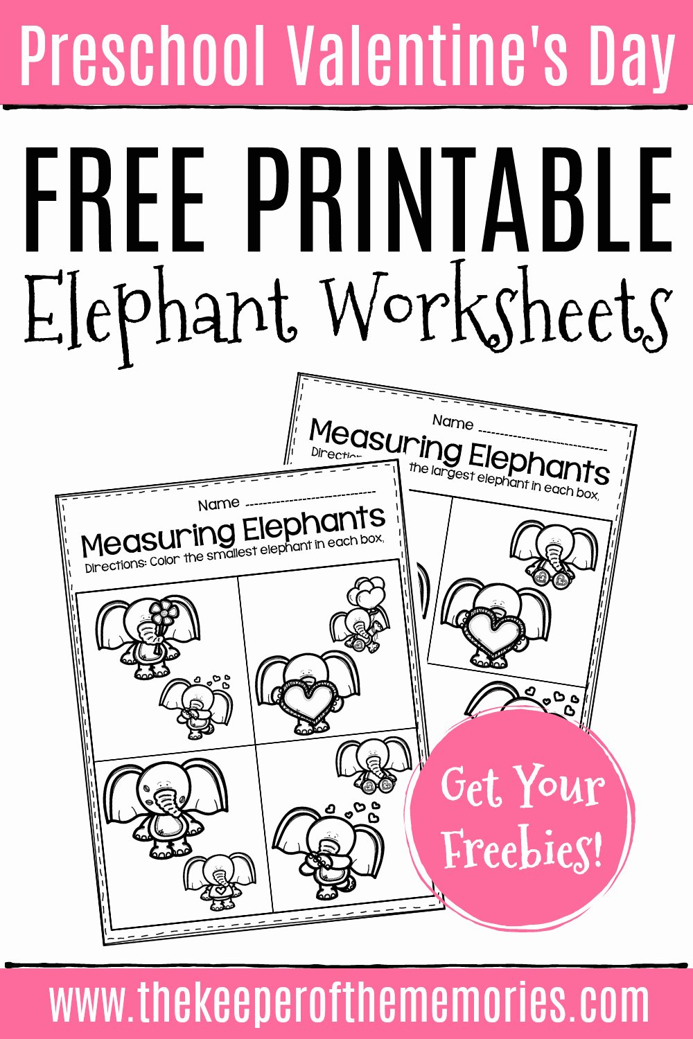 Elephant Worksheets for Preschoolers New Free Printable Elephant Valentine S Day Worksheets the