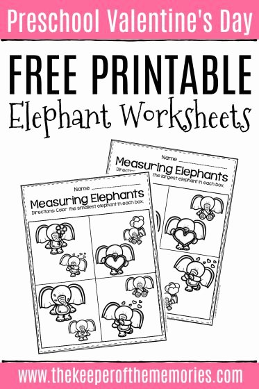 Elephant Worksheets for Preschoolers top Free Printable Elephant Valentine S Day Worksheets the