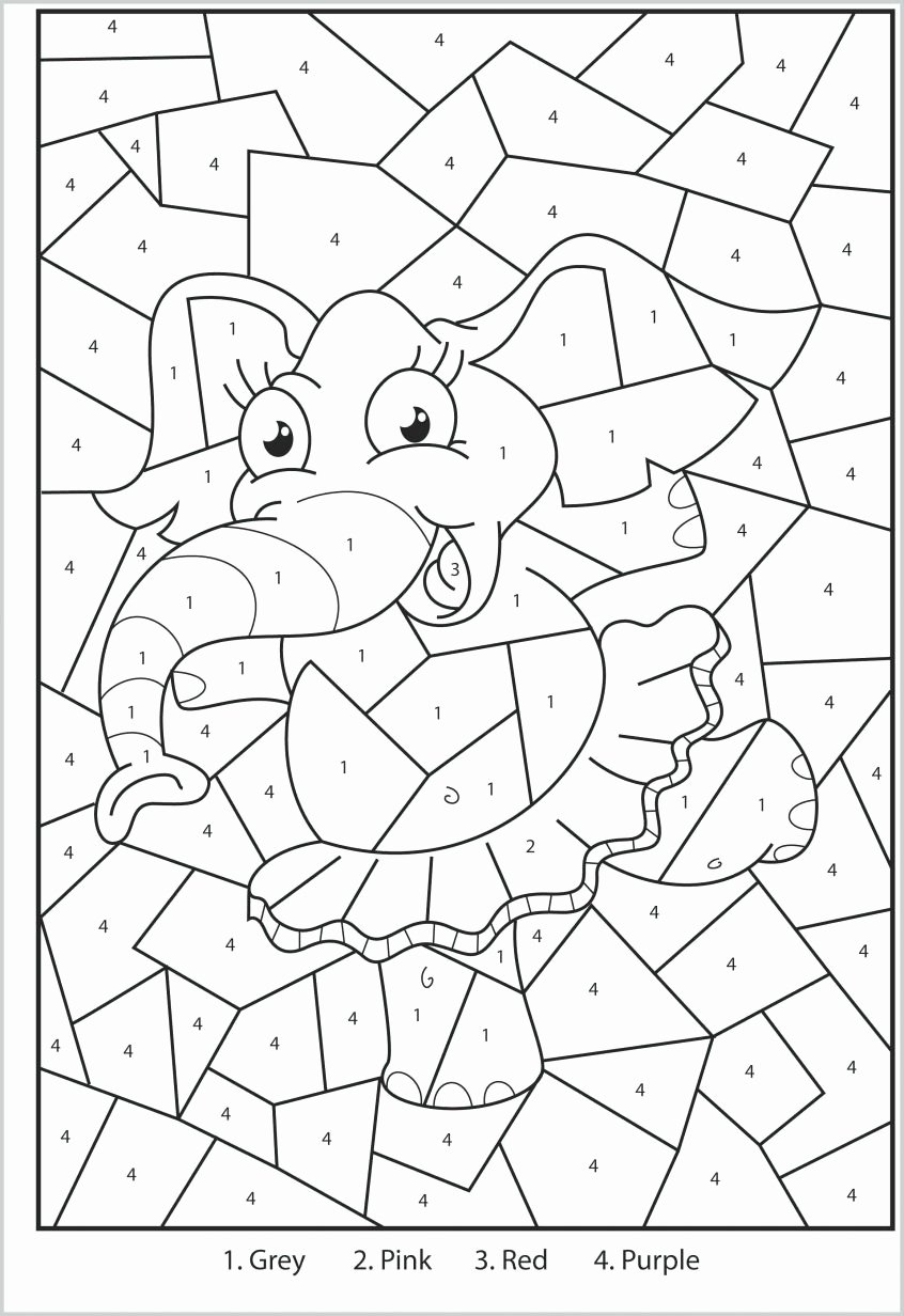 Elephant Worksheets for Preschoolers top Worksheet Color by Number Colorings Free Beautiful