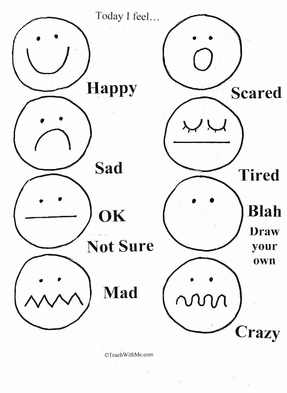 Emotion Worksheets for Preschoolers Best Of Pin On Preschool Worksheets