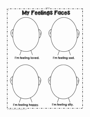 Emotion Worksheets for Preschoolers Lovely Feelings Worksheets