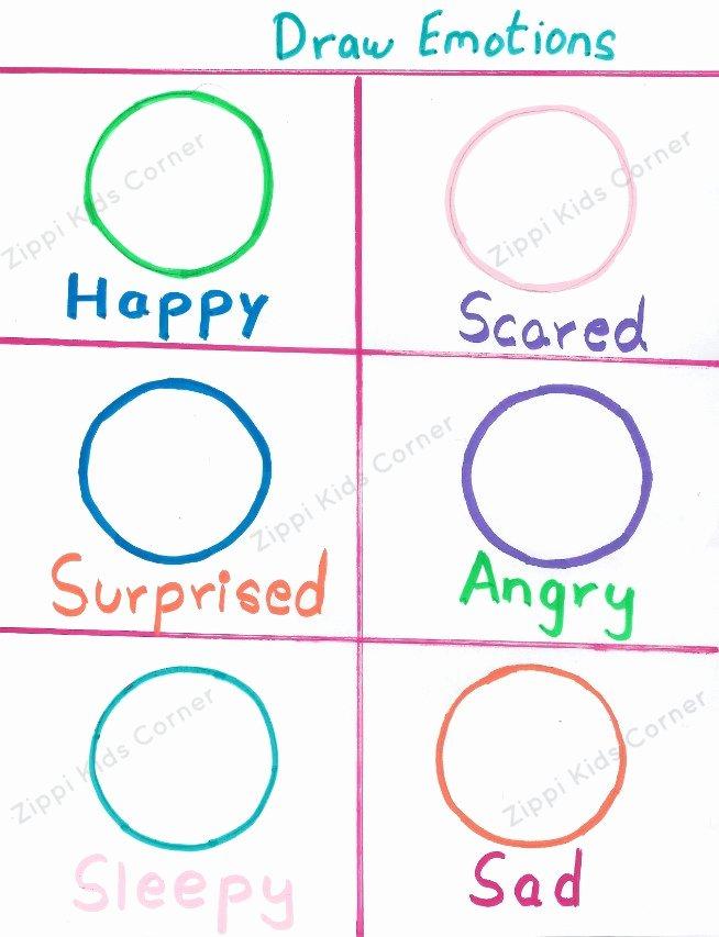 Emotion Worksheets for Preschoolers Unique Emotions and Feelings Worksheets for toddlers and