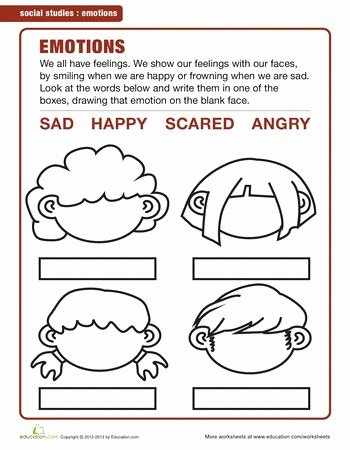 Emotions Worksheets for Preschoolers Beautiful Image Result for Emotions Worksheets for Kindergarten Pdf