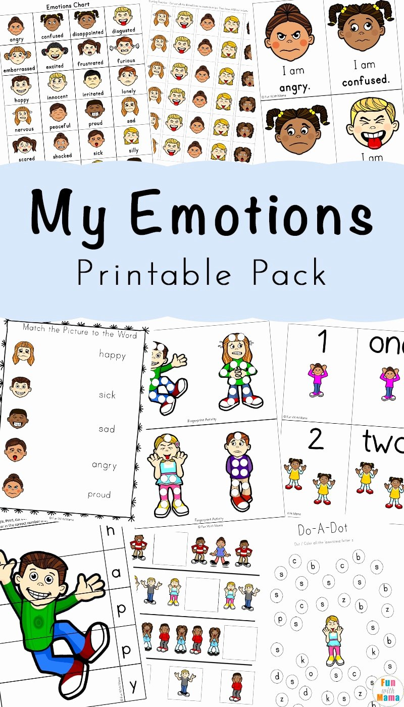 Emotions Worksheets for Preschoolers Best Of Feelings Activities Emotions Worksheets for Kids Fun