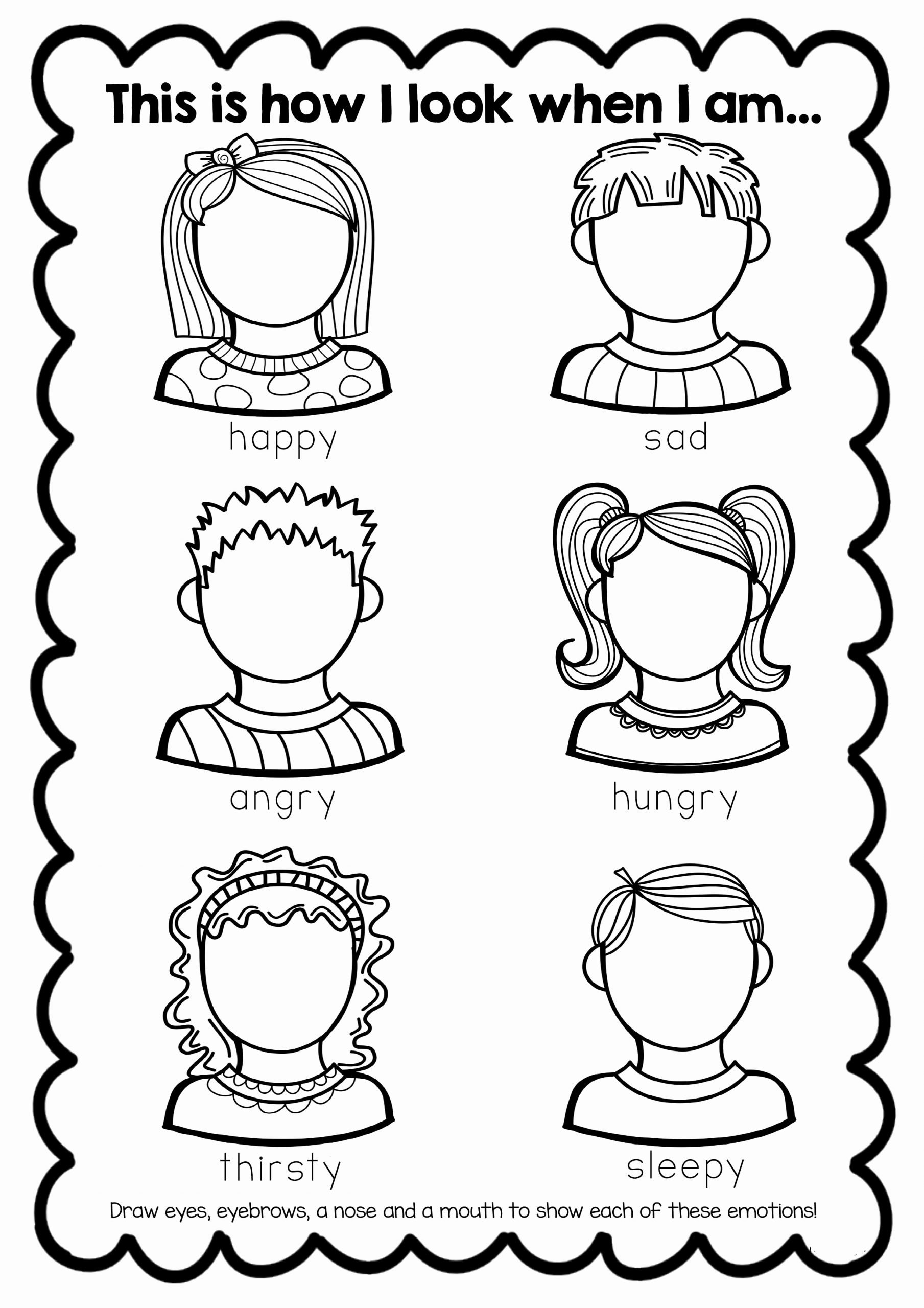 Emotions Worksheets for Preschoolers Best Of Free Feelings Worksheet
