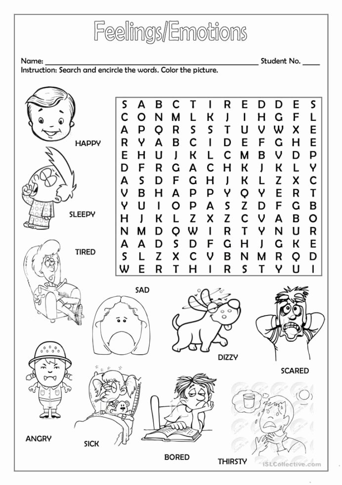 Emotions Worksheets for Preschoolers Fresh Feelings Emotions with English Worksheets for Kids