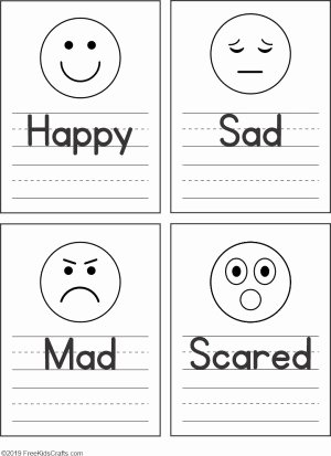 Emotions Worksheets for Preschoolers Fresh Feelings Faces Worksheet for Preschoolers