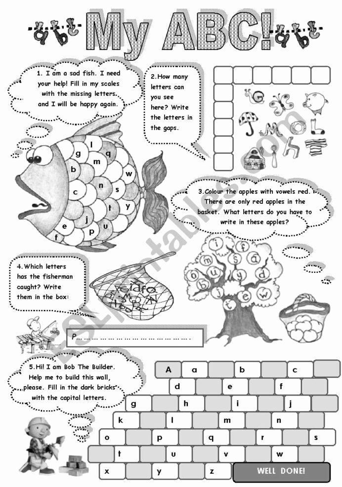 English Alphabet Worksheets for Preschoolers Beautiful My Fun with Alphabet Amazing Activities to Practise English