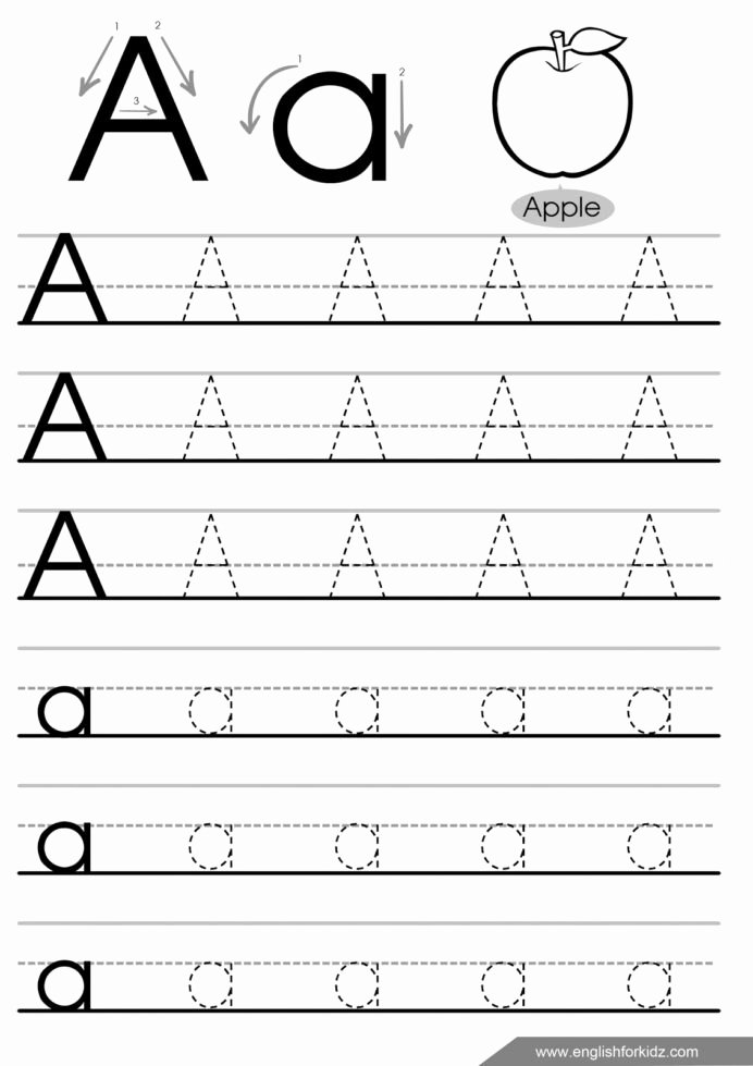 English Alphabet Worksheets for Preschoolers top Letter Tracing Worksheets Letters English Worksheet Free