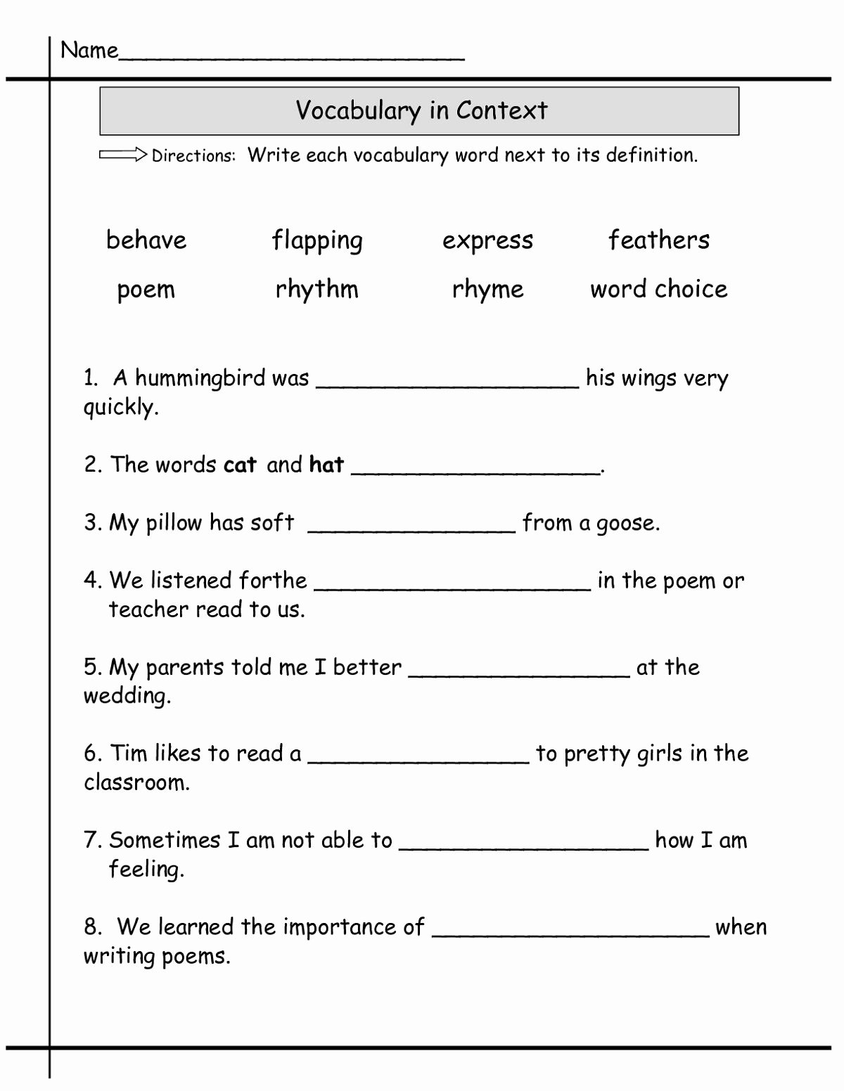English Worksheets for Preschoolers New Grade English Worksheets Printable and Activities Second 2nd