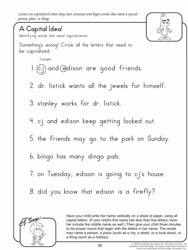 English Worksheets for Preschoolers Unique Capital Idea Fun English Worksheets for Kids Letters Grade