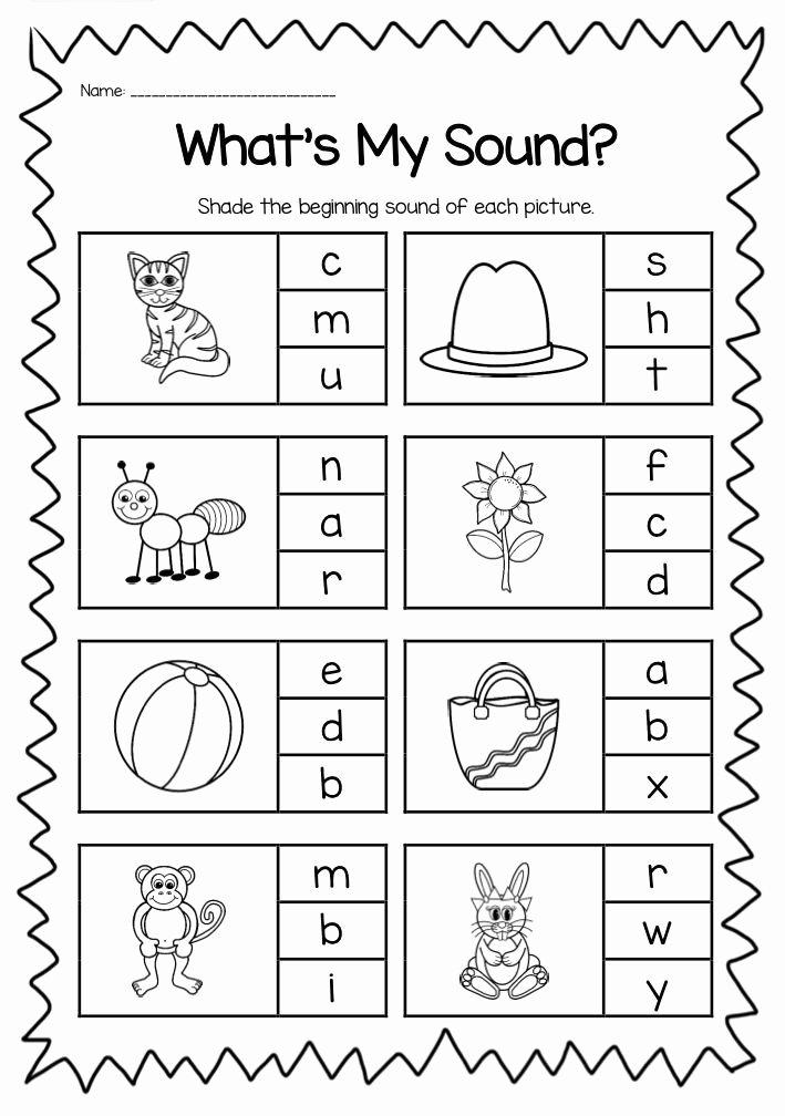 Esl Worksheets for Preschoolers Beautiful Begiining English sounds Worksheets for Kindergarten In 2020