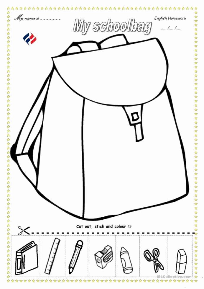 Esl Worksheets for Preschoolers Best Of Schoolbag English Esl Worksheets for Distance Learning and