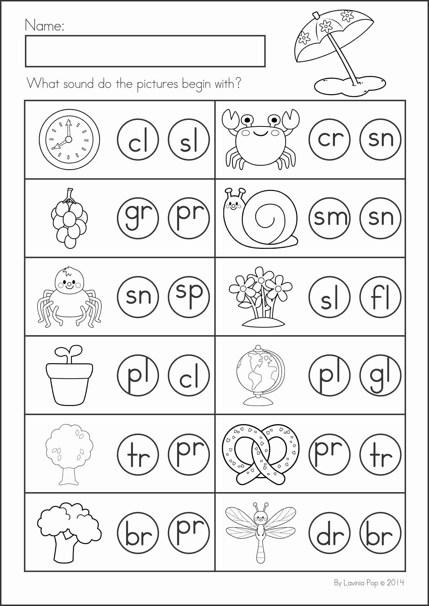 Exercise Worksheets for Preschoolers Awesome Worksheets Blends Worksheets for Kindergarten Practice