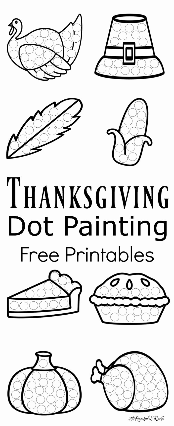 Eye Hand Coordination Activities Worksheets for Preschoolers Fresh Thanksgiving Dot Painting Free Printables the