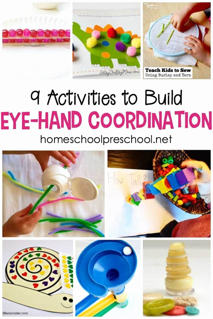Eye Hand Coordination Activities Worksheets for Preschoolers Inspirational 9 Eye Hand Coordination Activities for tots and Preschoolers