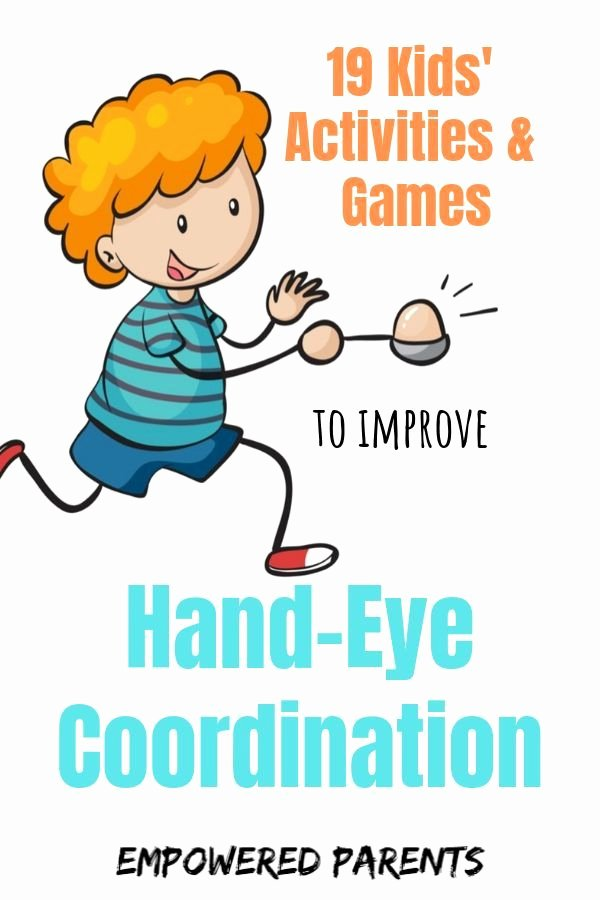 Eye Hand Coordination Activities Worksheets for Preschoolers New 19 Kids Activities & Games to Improve Hand Eye Coordination