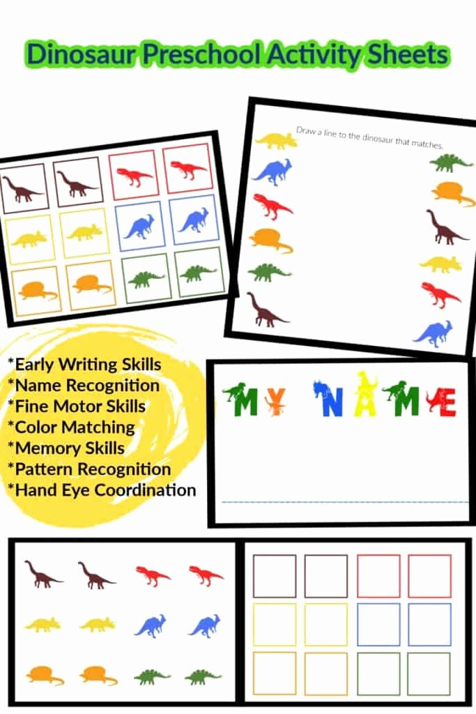 Eye Hand Coordination Worksheets for Preschoolers Fresh Learning Colors and Numbers In Preschool Dinosaur Worksheets