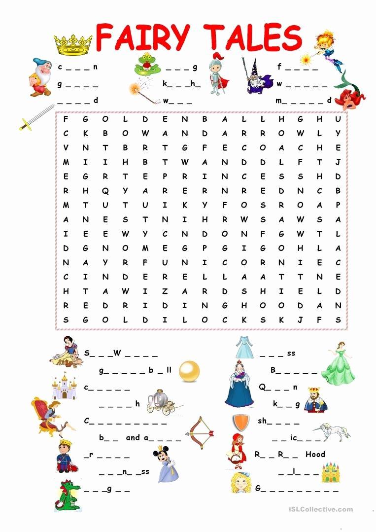 Fairy Tales Worksheets for Preschoolers Beautiful 45 Free Esl Fairy Tales Worksheets