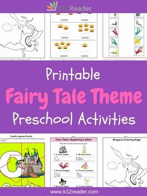 Fairy Tales Worksheets for Preschoolers top Fairy Tales Preschool theme Activities