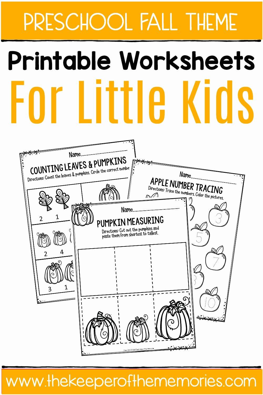 Fall Worksheets for Preschoolers New Fall Printable Preschool Worksheets the Keeper Of the Memories