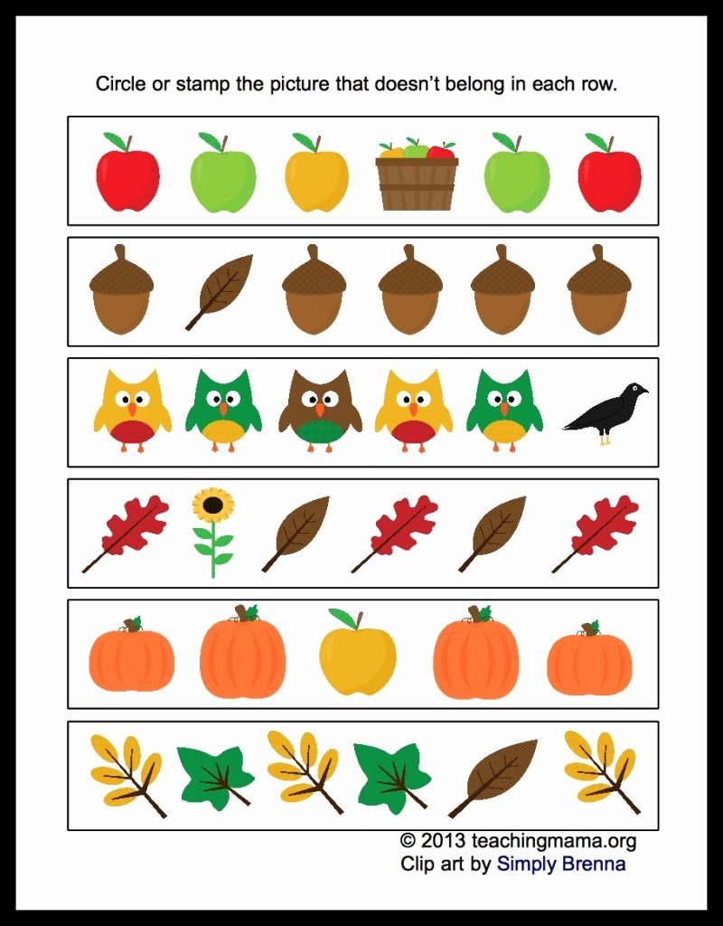 Fall Worksheets for Preschoolers top Different 800x1024s for Preschool Free Fall Coloring Sheets