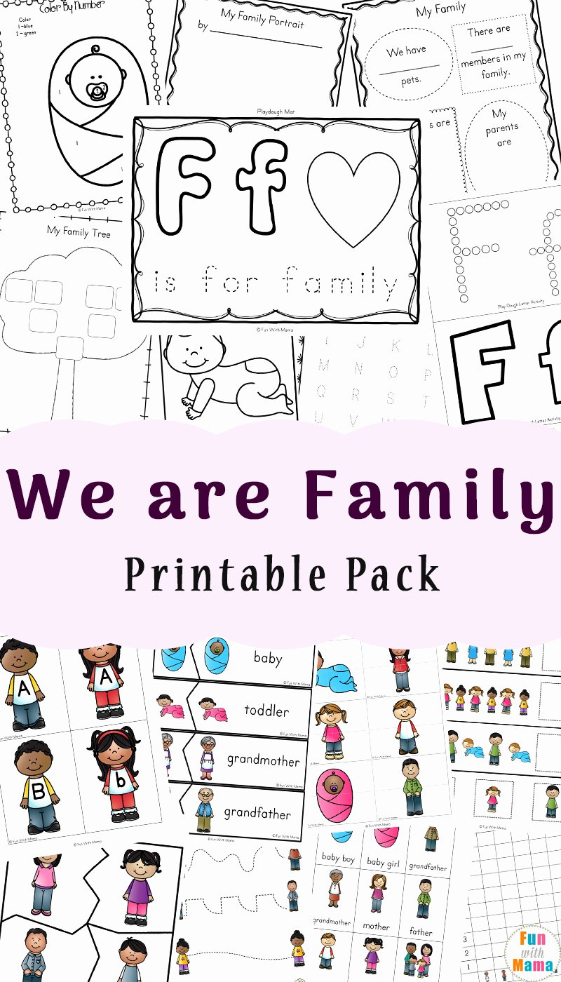 Family Worksheets for Preschoolers Beautiful Family theme Preschool and Family Worksheets for