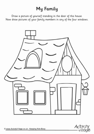 Family Worksheets for Preschoolers Beautiful My Family topic Printables for Children