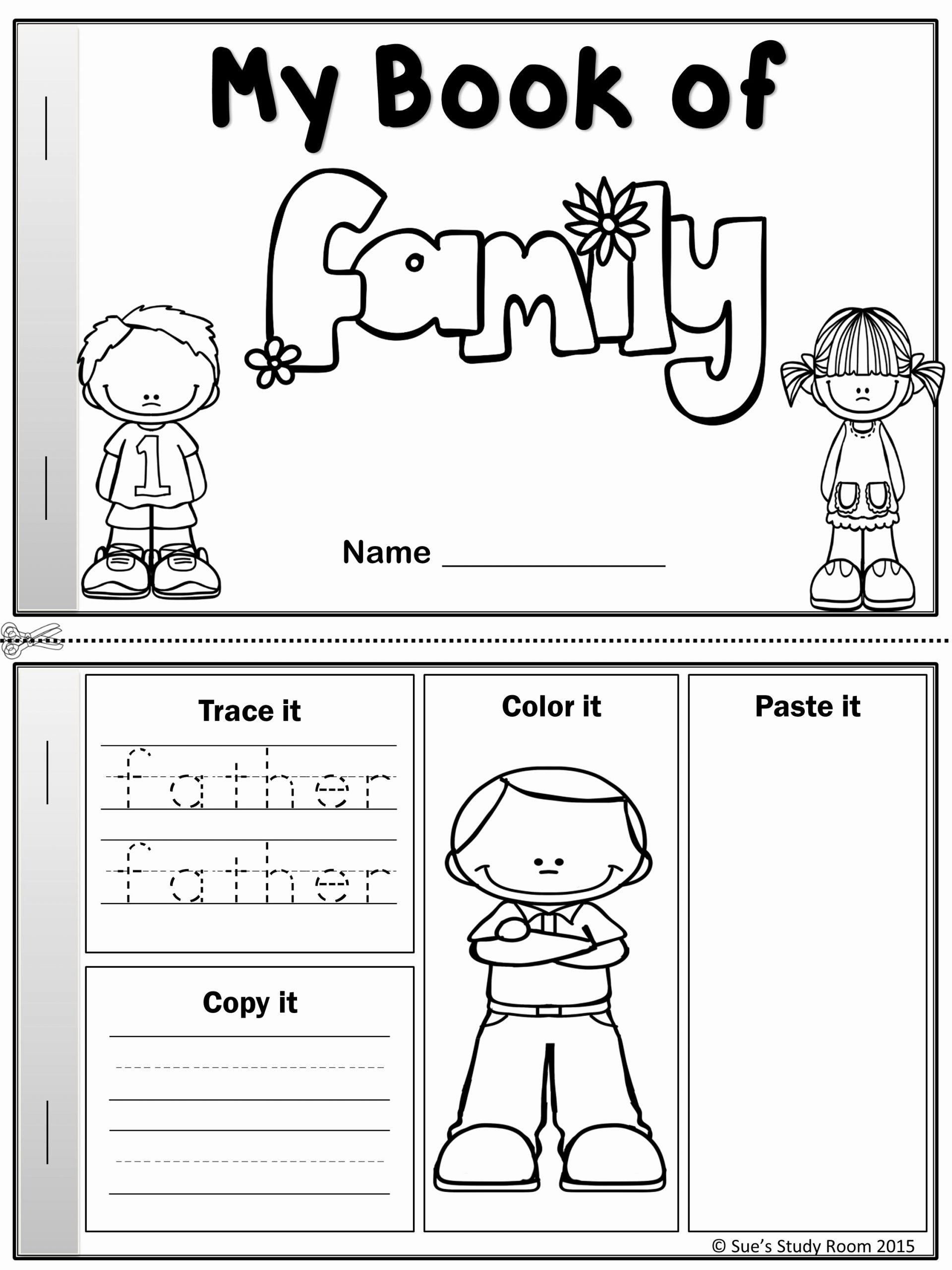 Family Worksheets for Preschoolers Beautiful My Word Book Of Family Members