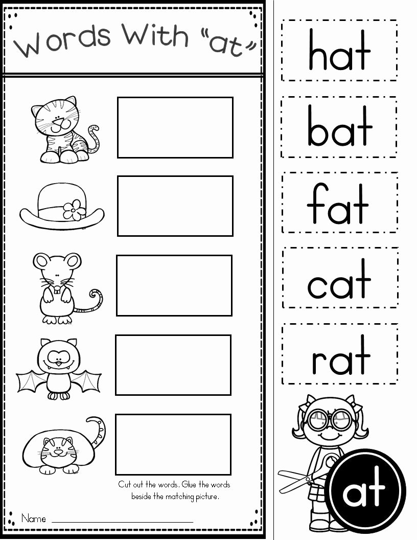Family Worksheets for Preschoolers Best Of Free Word Family at Practice Printables and Activities