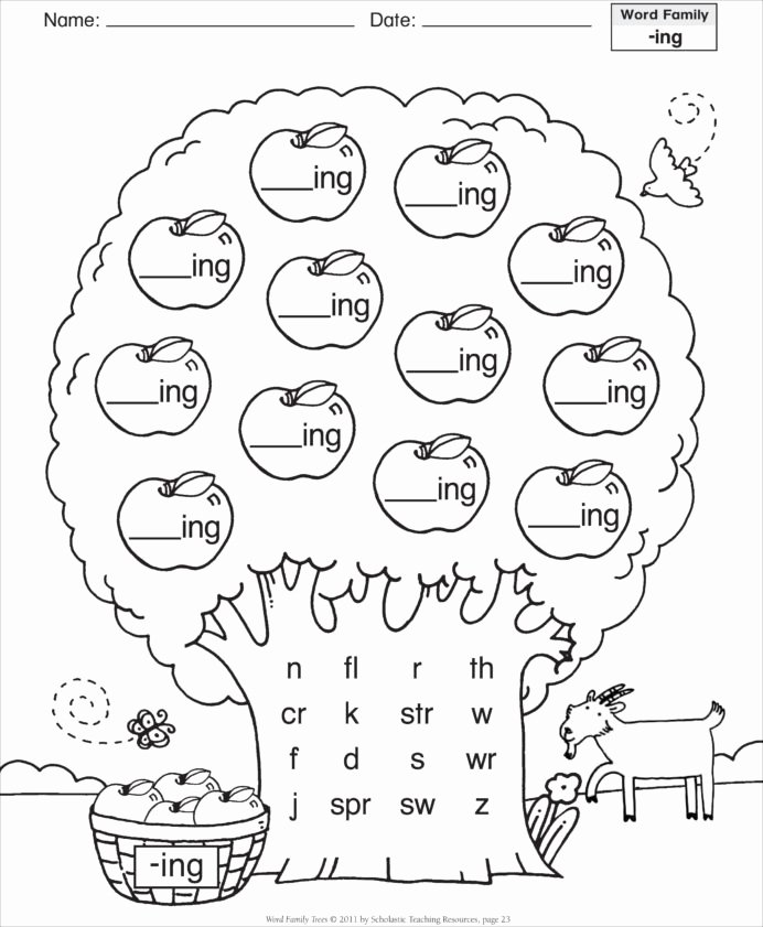 Family Worksheets for Preschoolers Lovely Word Family Worksheets Families Grade Homework Sheets the
