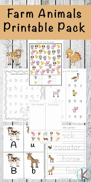 Farm Animal Worksheets for Preschoolers Awesome Free Farm Animals Worksheets